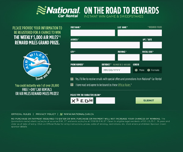 National | Road To Rewards